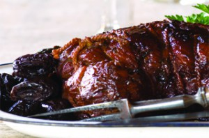 Mustard-Braised Pork Neck with Prunes