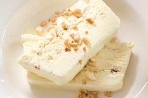 Honey and almond ice-cream.