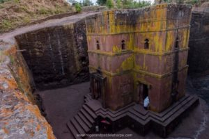 One of the rock-cut churches of Lalibela.