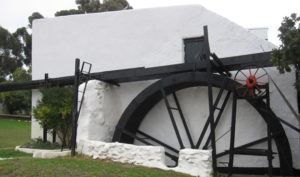 The mill on Compagnes Drift farm.